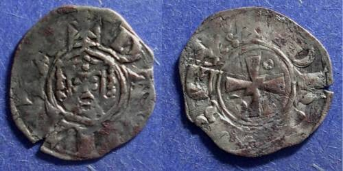 Ancient Coins - Kingdom of Jerusalem, John of Brienne 1210-25, Denier