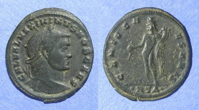 Ancient Coins - Roman Empire, Maximinus II (as Caesar) 305-8, Follis