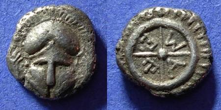 Ancient Coins - Messembria Thrace - Diobol 450-350 BC