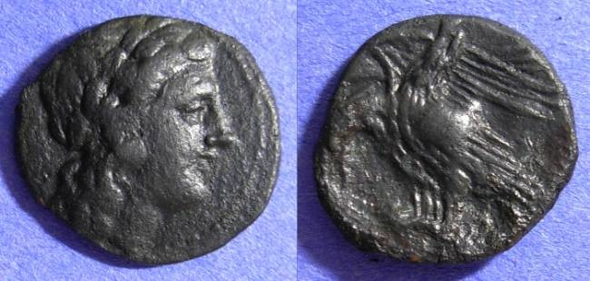 Ancient Coins - Akragas Sicily - AE 19 240-212BC