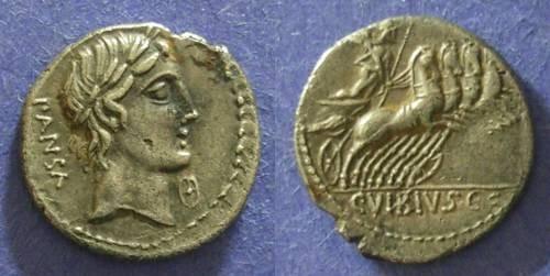 Ancient Coins - Roman Republic, C Vibivs C f Pansa 90 BC, Denarius