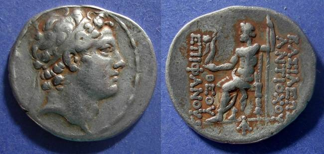 Ancient Coins - Seleucid Kingdom, Antiochos IV 175-164 BC, Tetradrachm