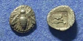 Ancient Coins - Ionia, Ephesos 550-500 BC, Tetartemorion