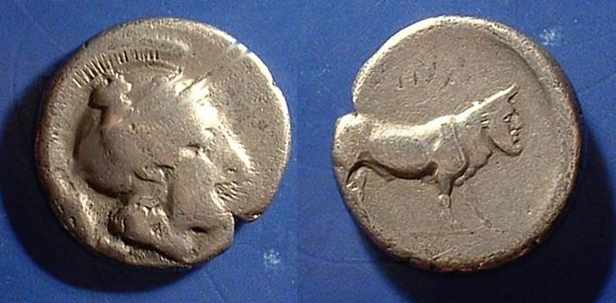 Ancient Coins - Hyria Campania - Didrachm 400-335 BC