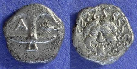 Ancient Coins - Apollonika Pontica Thrace, Drachm Circa 400BC