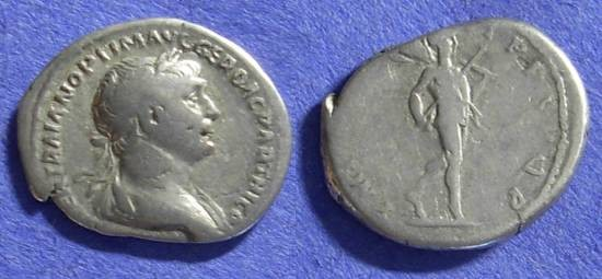 Ancient Coins - Roman Empire - Trajan 98-117AD - Denarius