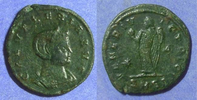 Ancient Coins - Galeria Valeria Follis - Daughter of Diocletian & Wife of Galerius
