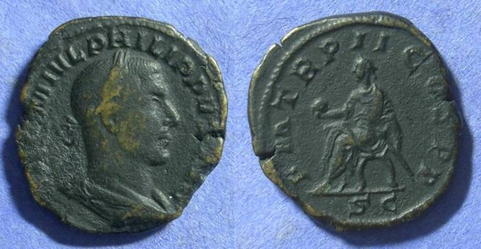 Ancient Coins - Philip 244-9 AD Sestertius