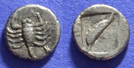 Ancient Coins - Uncertain - Asia Minor Diobol Circa 450 BC