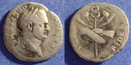 Ancient Coins - Titus (as Caesar 69-79AD) Denarius