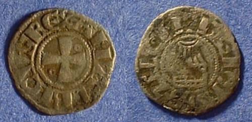 Ancient Coins - Crusader Jerusalem Amaury (AKA Amalric I) 1163-74 Denier