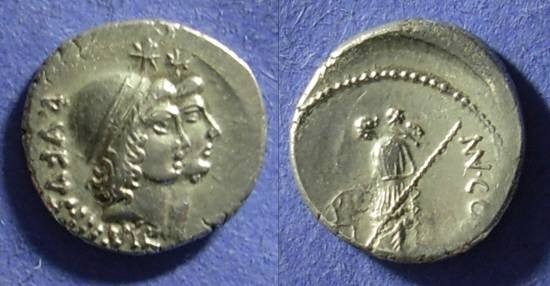 Ancient Coins - Roman Republic - Mn. Cordius Rufus Denarius 46BC
