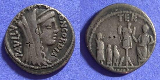 Ancient Coins - Roman Republic – Aemilia 10 Denarius 62 BC