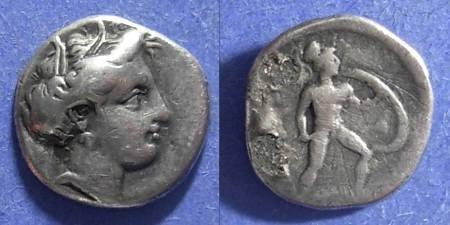 Ancient Coins - Lokris,  Circa 350 BC, 1/4 Stater
