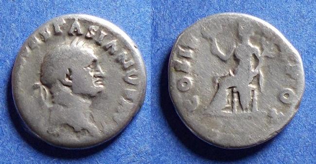 Ancient Coins - Roman Empire, Vespasian 69-79, Silver Denarius