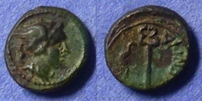 Ancient Coins - Vibo Valentia (Heiponion) Bruttium Semuncia 192-89BC (Rare denomination)