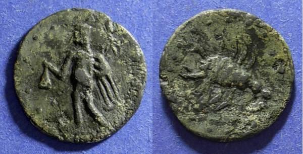 Ancient Coins - Roman Empire, Uncertain city 1st-2nd Century AD, Tessera 23mm