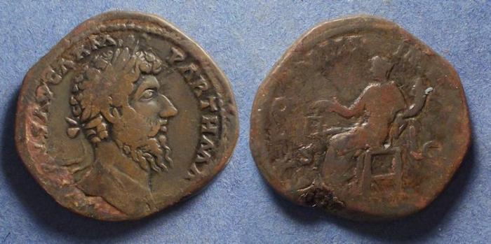 Ancient Coins - Roman Empire, Lucius Verus 161-9, Sestertius