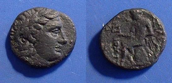 Ancient Coins - Antiochos II. 261-246BC AE17