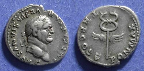 Ancient Coins - Roman Emprie, Vespasian 69-79 AD, Denarius