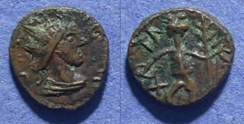 Ancient Coins - Roman Imitative, Radiate Circa 280AD, AE10