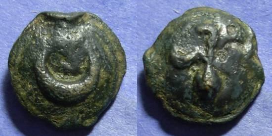 Ancient Coins - Luceria, Apulia Circa 220 BC, Semunciae