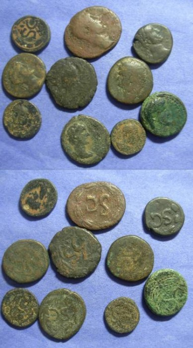 "Ancient Coins - 10 AE of Roman Antioch with ""SC"" reverses"