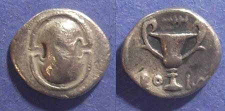 Ancient Coins - Boeotia,  395-340 BC, Hemidrachm