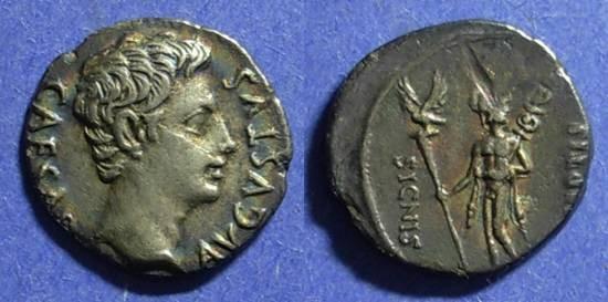 Ancient Coins - Roman Empire Augustus 27 BC - 14 AD Denarius