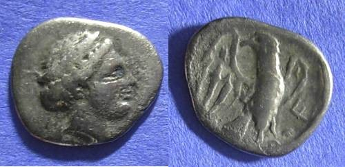 Ancient Coins - Olympia – Elis Hemidrachm Circa 320 BC