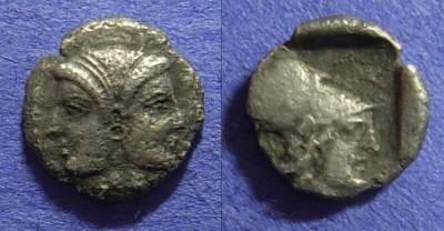 Ancient Coins - Lampsakos Mysia – Trihemiobol: Circa 450 BC