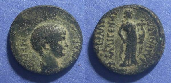 Ancient Coins - Blaundus, Lydia, Nero 54-68 AD, AE 19