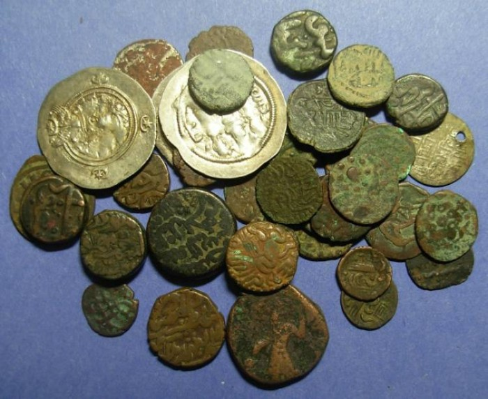 Ancient Coins - 36 Coins of Southern Asia,