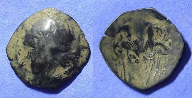 Ancient Coins - Byzantine - Empire of Nicaea - Theodore II 1254-8 – Billon Trachy
