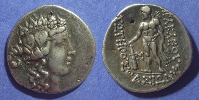 Ancient Coins - Thasos, Imitative issue Circa 140 BC, Tetradrachm