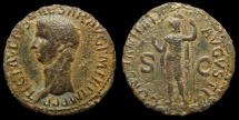 Ancient Coins - Claudius, AE-As. Rome. Constantia