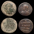 Ancient Coins - A pair of Constantinian anepigraphic Folles from Antioch