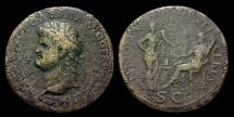 Ancient Coins - Nero, AE-Sestertius. c. AD 65. Lugdunum. Annona & Ceres