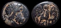 Antioch, Syria under Roman rule. AD 66-67. Æ Trichalkon, Year 115. Zeus / Boule Casting a Vote