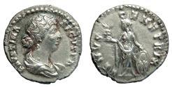 Ancient Coins - Faustina Jr., AR Denarius. Rome. Venus. Nice VF