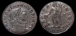 Ancient Coins - Galerius, AE-Follis. AD 308-311. Thessalonica. Rx./ Genius. EF