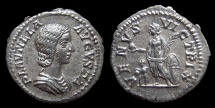 Ancient Coins - Plautilla, AR Denarius, AD 204. Rome. Venus. CH.VF
