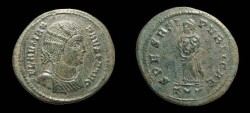 Ancient Coins - Fausta, AE-Follis, AD 326. Ticinum. Empress w/ Two Children