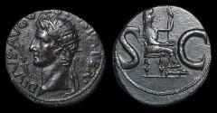 Ancient Coins - Divus Augustus, AE-Dupondius, AD 15-6, under Tiberius. Near EF