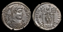 Ancient Coins - Constantius II, 337-361 AD. SCARCE bronze follis struck under Vetranio