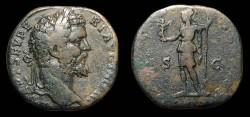 Ancient Coins - Septimius Severus, AE-Sestertius. AD 194. Rx./ Virtus. aVF