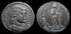 Ancient Coins - Fausta, Bi Centenionalis, AD 324-5. Lugdunum. Salus. aEF