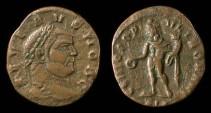 Ancient Coins - Severus II. AE quarter-follis of 305-306 AD. Nice!