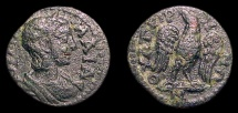 Ancient Coins - Lydia, Thyateira. AE-21. Juia Mamaea / Eagle