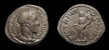 Ancient Coins - Severus Alexander, AR Denarius, AD 227. Aequitas. EF/aEF